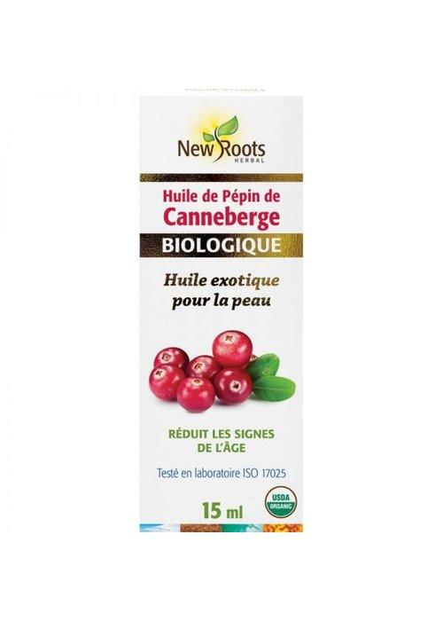 New Roots New Roots - Huile de pépin de Canneberge, certifiée biologique 15ml