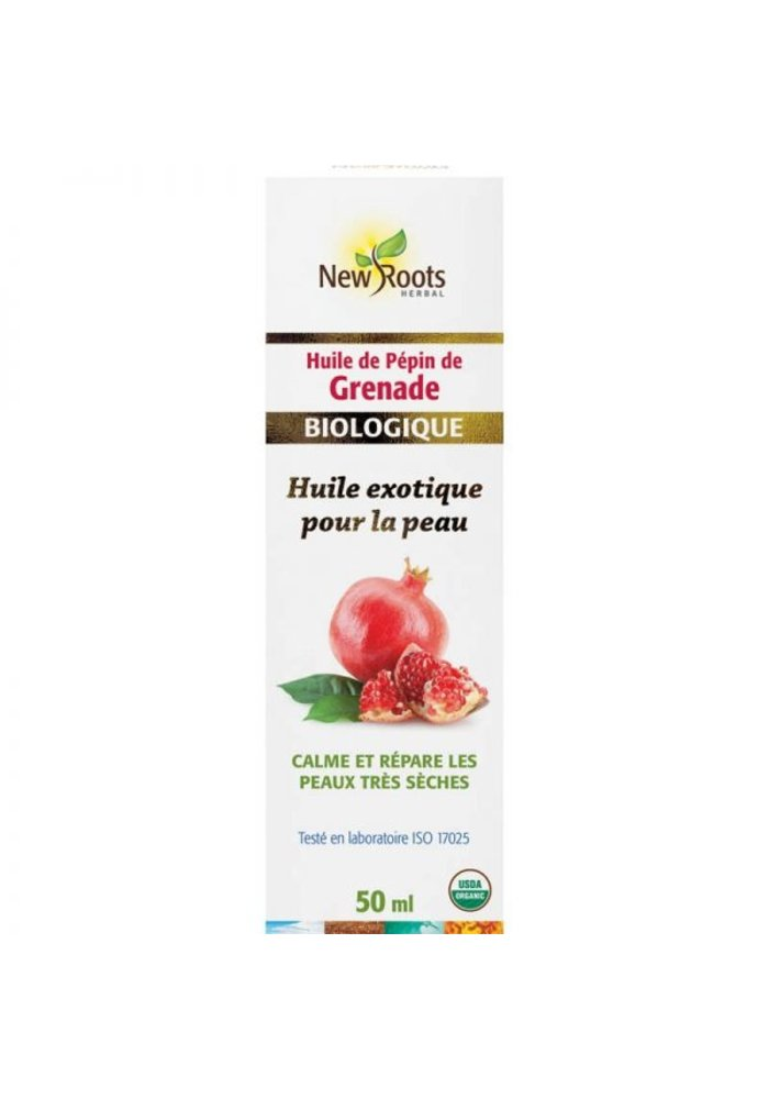 New Roots - Huile de pépin de Grenade, certifiée biologique 50ml