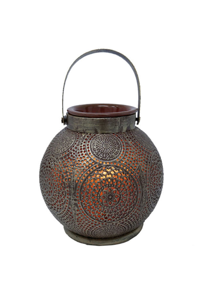 La Luna - Lampe de sel rose de l'Himalaya avec plaque chauffante pour huiles essentielles DEHLI