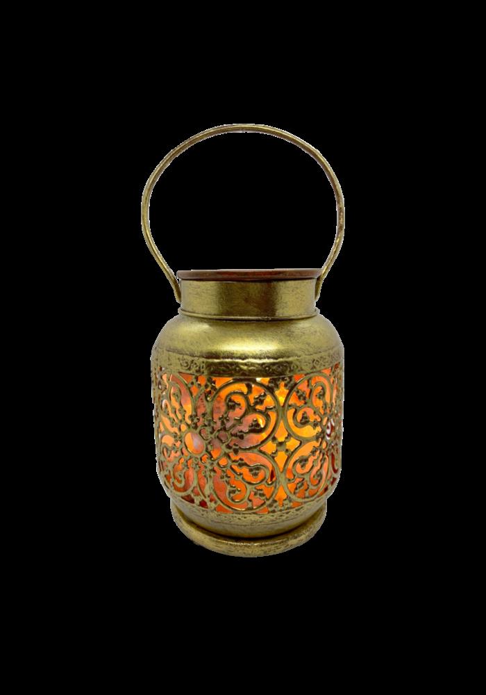 La Luna - Lampe de sel rose de l'Himalaya avec plaque en céramique chauffante pour huiles essentielles JAIPUR