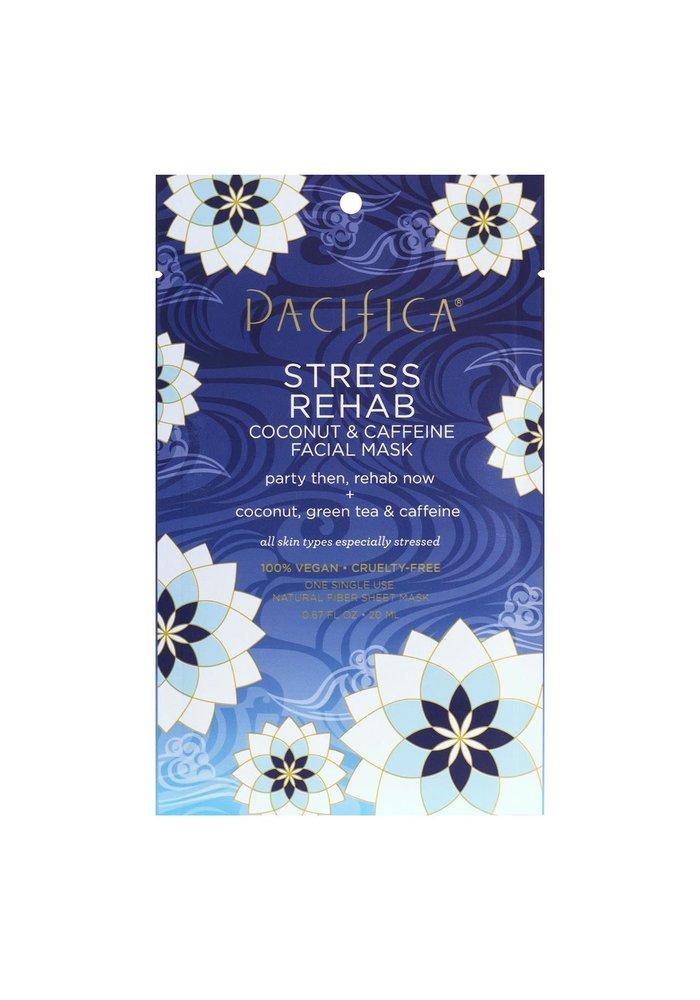 Pacifica - Masque tissu Stress Rehab - Coconut & Cafféine (usage unique)