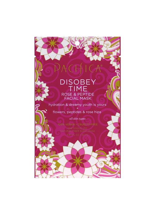 Pacifica Pacifica - Masque tissu Disobey Time - Rose & Peptide hydratant (usage unique)