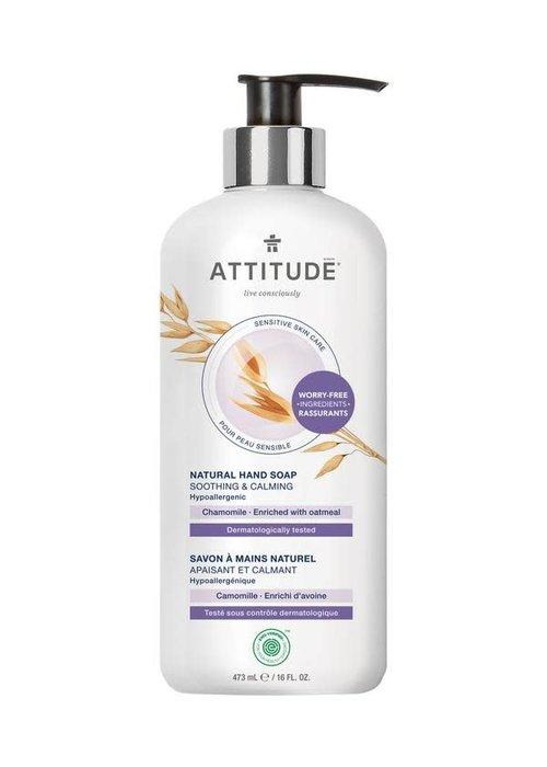 Attitude Attitude - Savon pour les mains Naturel pour peaux sensibles - Camomille enrichi d'avoine 473ml