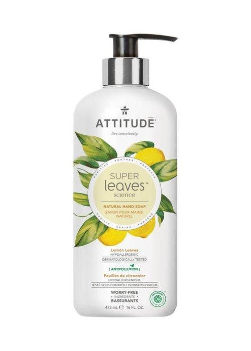 Attitude Attitude - Savon pour les mains Naturel - Feuilles de Citronnier 473ml