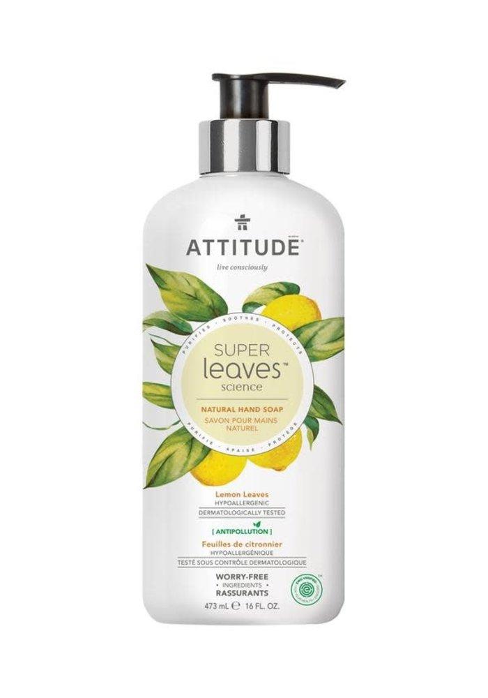 Attitude - Savon pour les mains Naturel - Feuilles de Citronnier 473ml