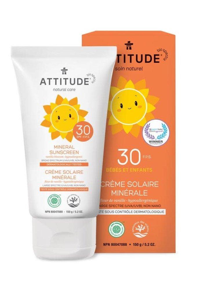 Attitude - Crème solaire Fleur d'oranger 150g