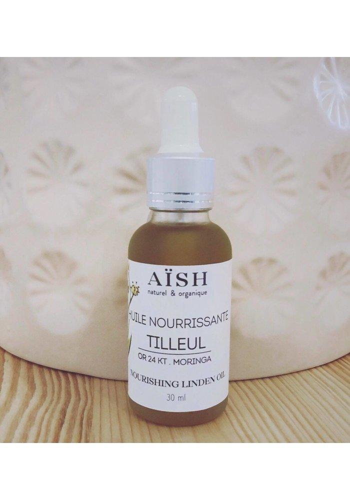 Aïsh Beauté - Huile visage nourrissante - Tilleul & Or 24k