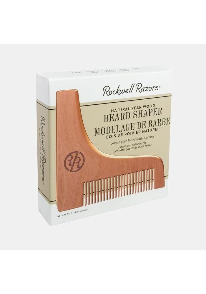 Rockwell Razors - Natural Pear Wood Beard Shaper