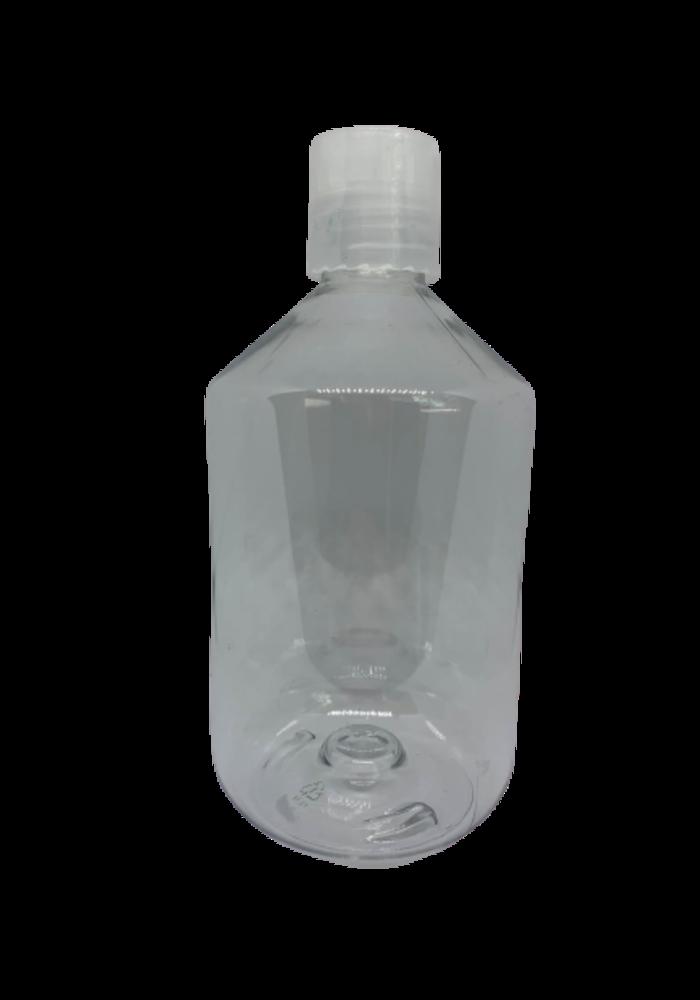 Norskin - Contenant 500ml plastique avec bouchon (poids vide: 42g)