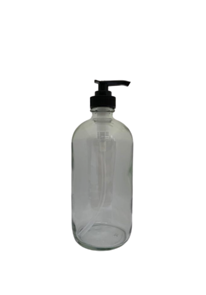 Pure - Contenant 500ml verre  avec pompe (poids vide: 314g)