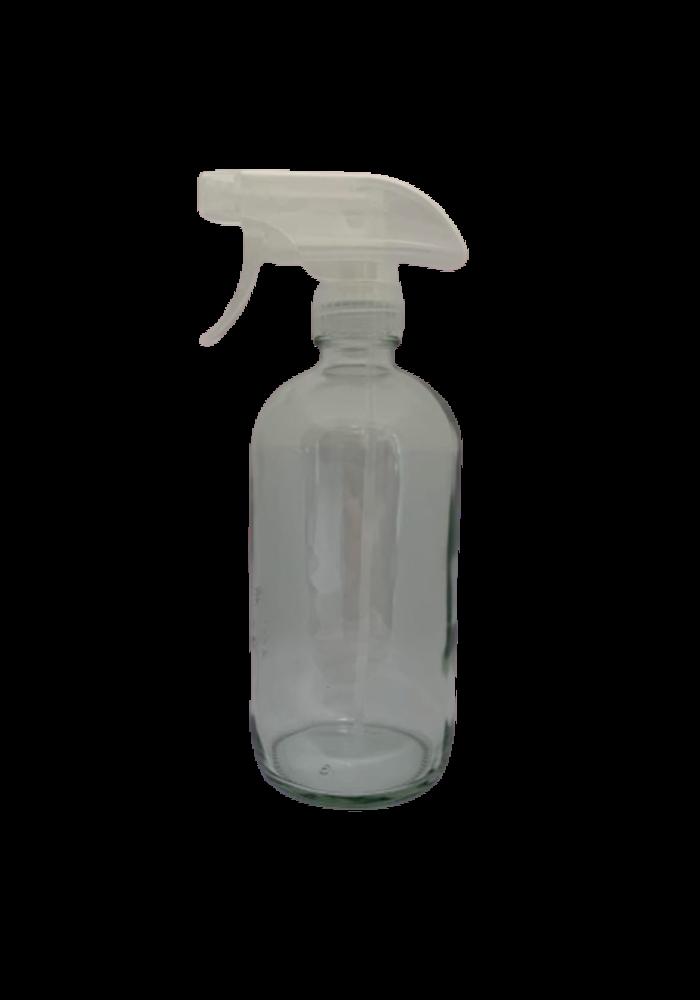 Pure - Contenant 500ml verre avec vaporisateur (poids vide: 324g)