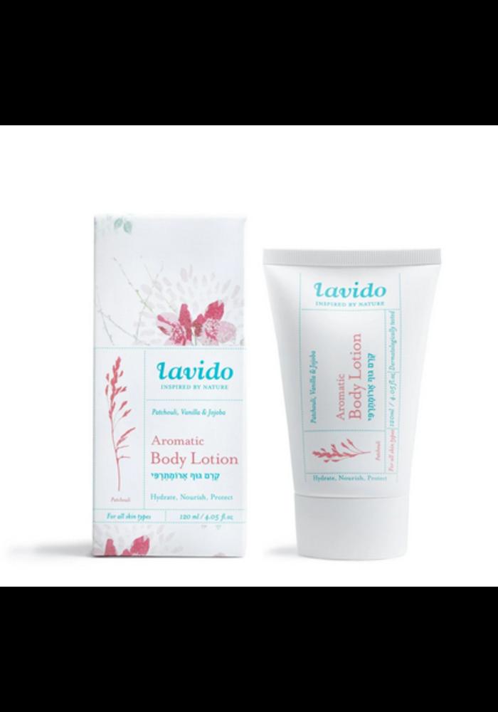 Lavido - Lotion aromatique corps - patchouli et vanille 120 ml