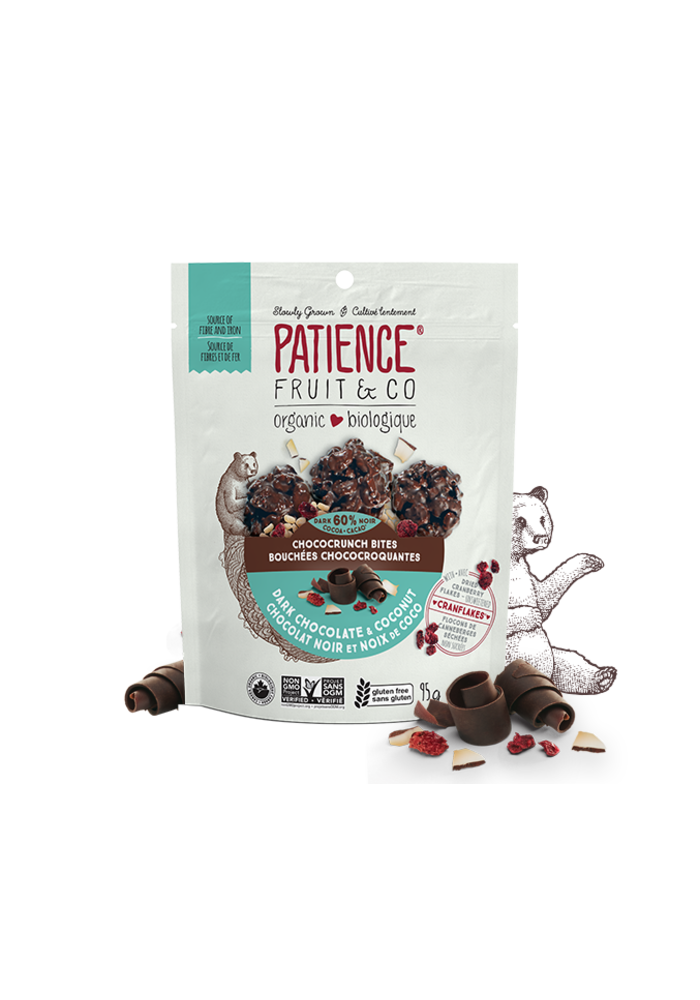 Patience Fruit & co. - Bouchées Choco-Croquantes Chocolat noir et noix de coco