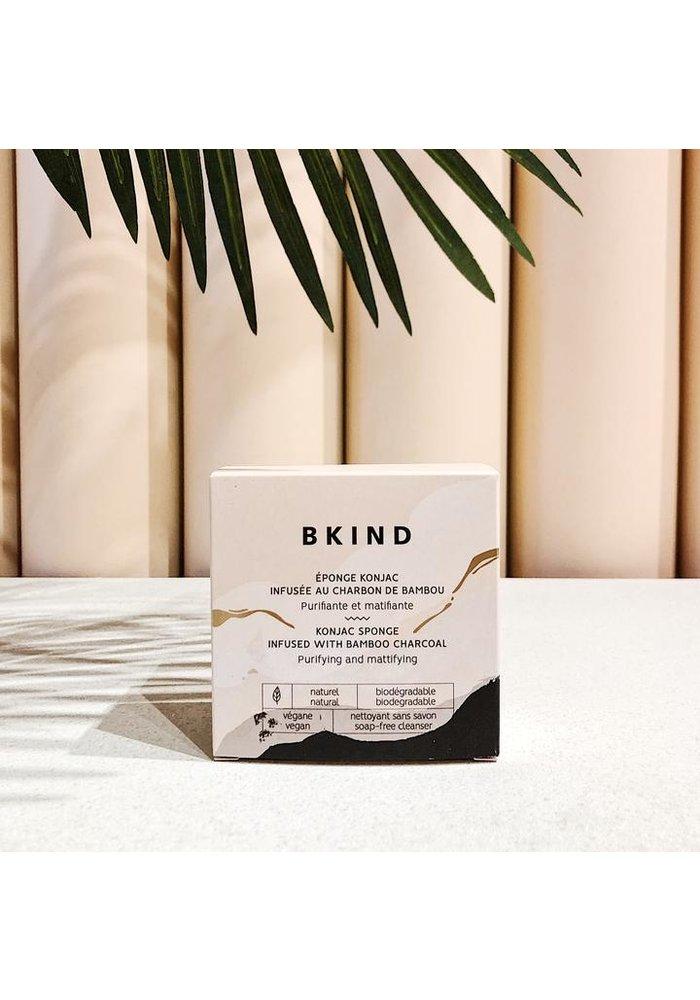 BKIND - Éponge Konjac Visage - Charbon de Bambou