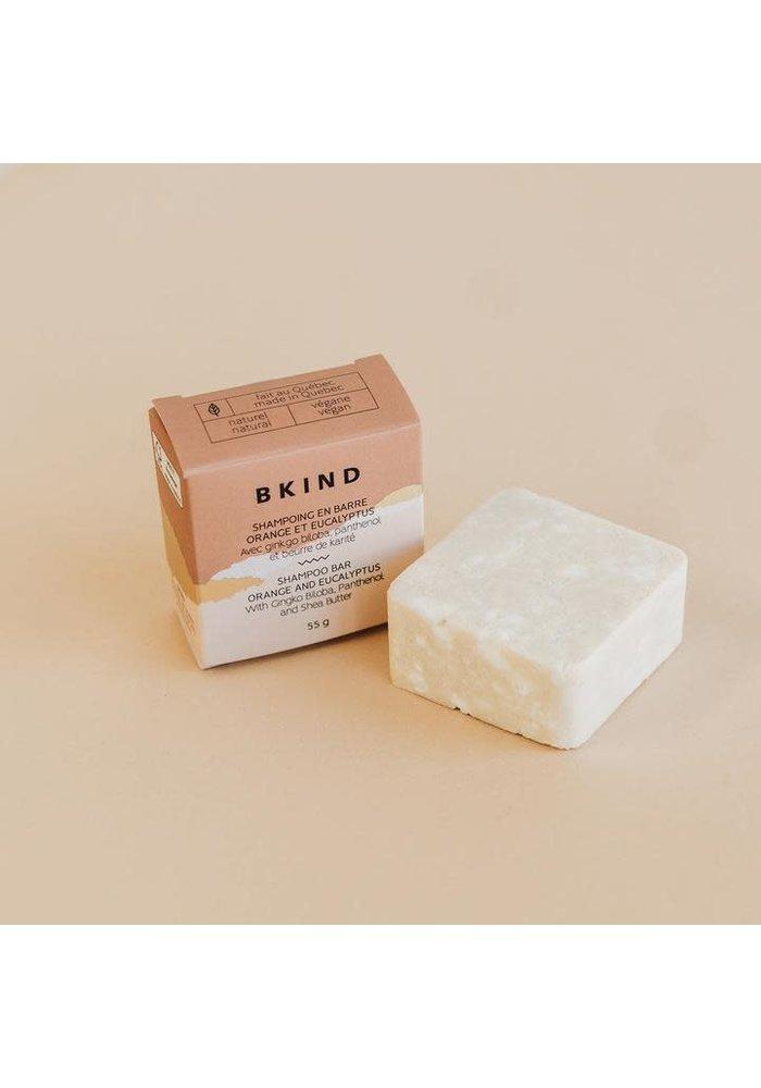 BKIND - Shampoing en barre - Orange et Eucalyptus