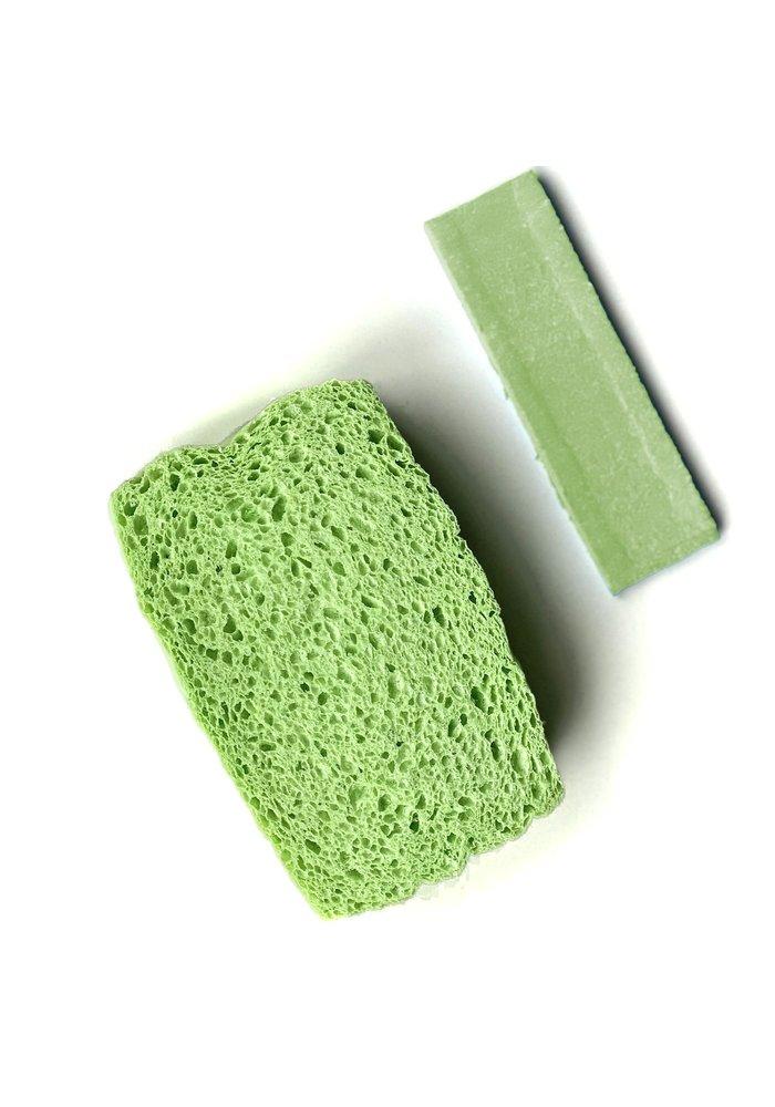 Kliin - Éponge compressée biodégradable - Grande verte
