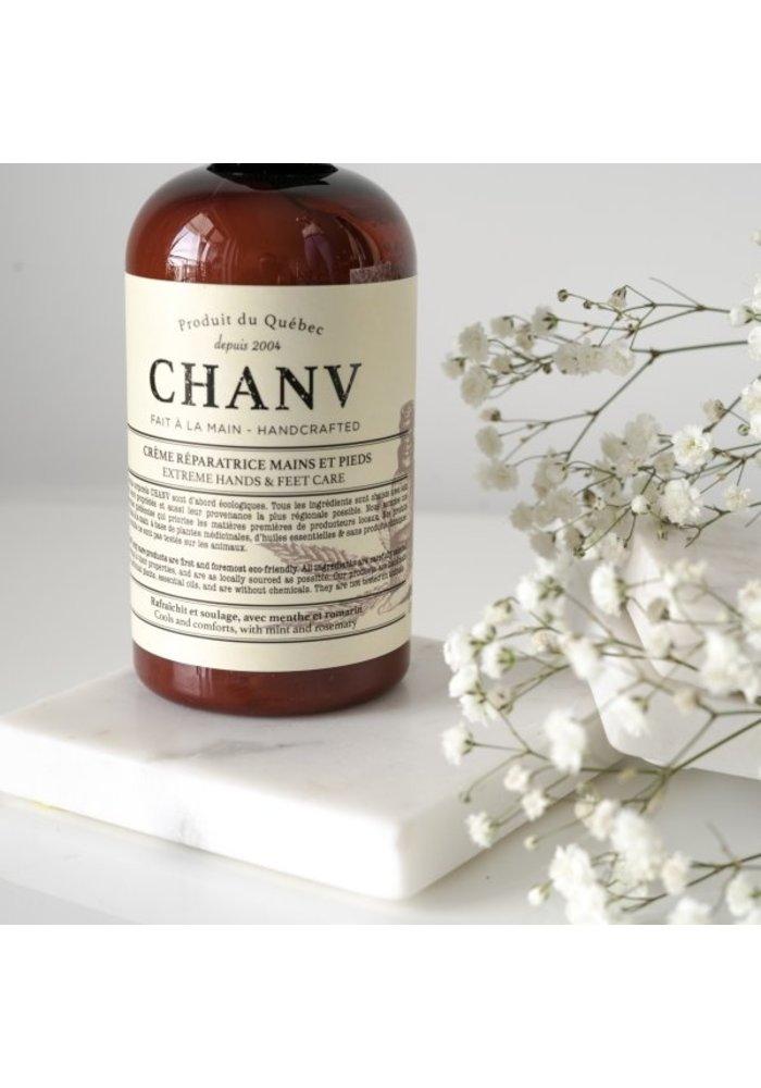 Chanv - Crème pour les mains, pieds et corps en pompe 236ml