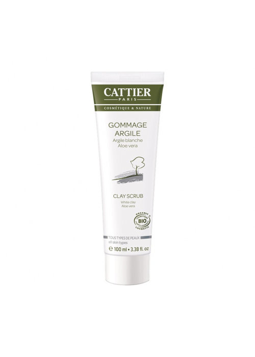 Cattier Cattier - Gommage argile blanche aloès 100ml