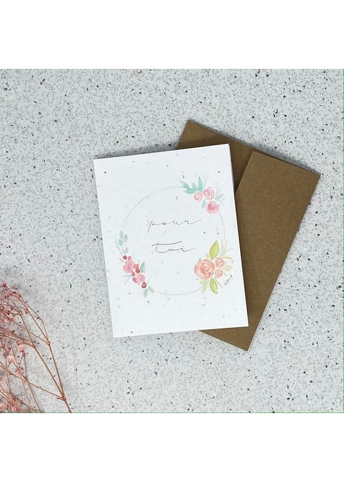 Survival Kit Carte de Souhaits Plantable Pour Toi