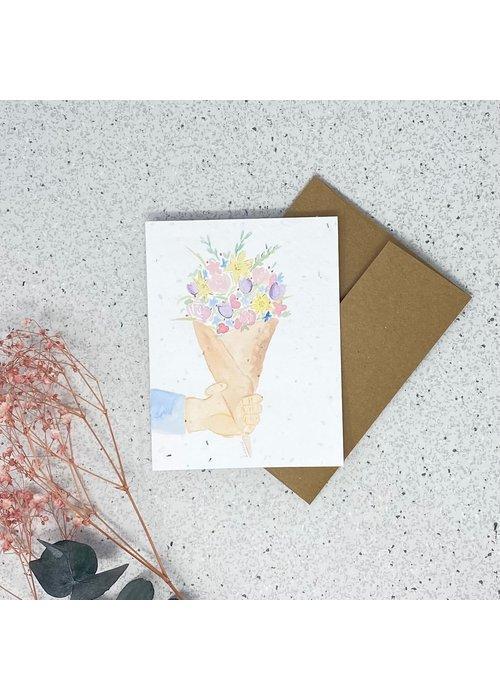 Survival Kit Carte de Souhaits Plantable Bouquet