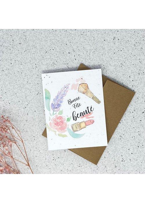 Survival Kit Carte de Souhaits Plantable Bonne Fête Beauté