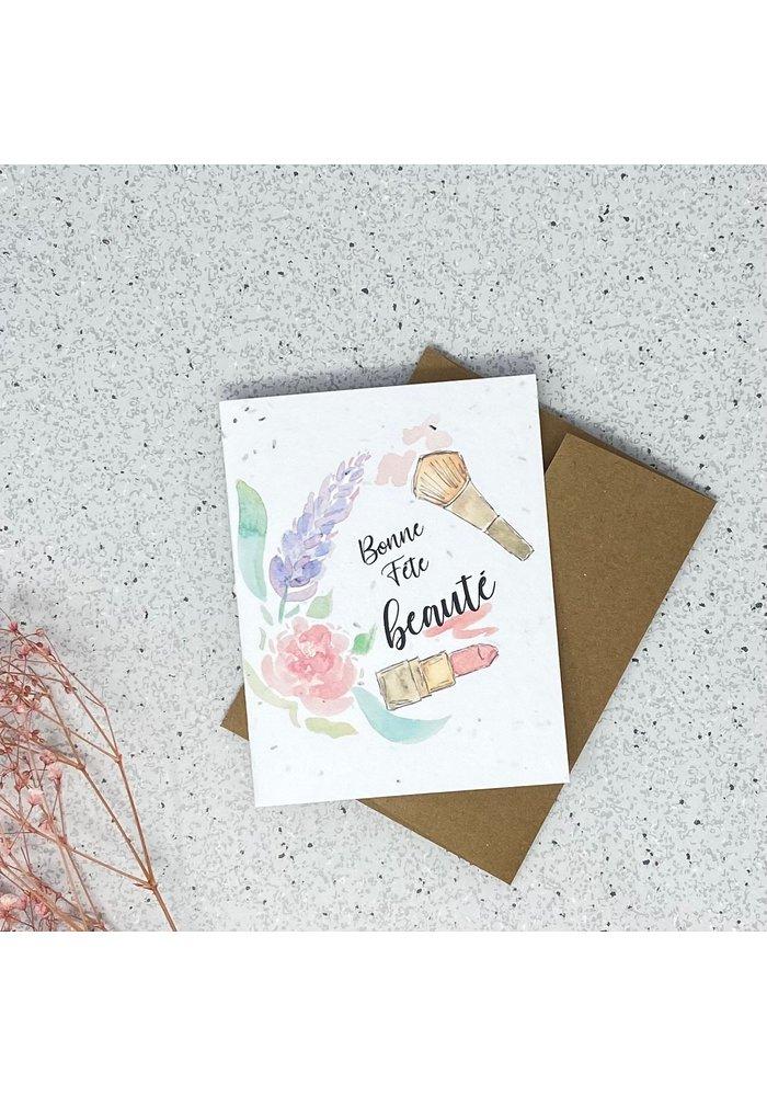 Carte de Souhaits Plantable Bonne Fête Beauté