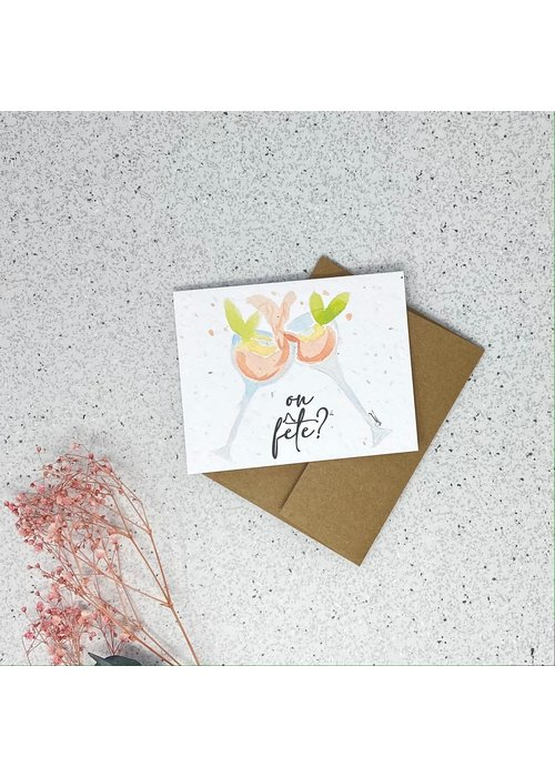 Survival Kit Carte de Souhaits Plantable On Fête?