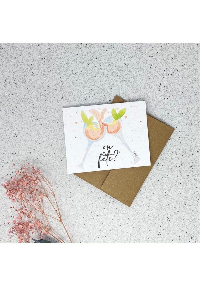 Carte de Souhaits Plantable On Fête?