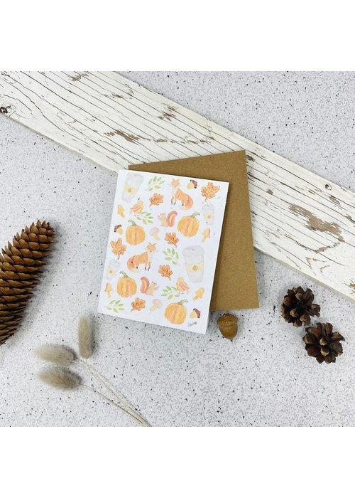 Survival Kit Carte de Souhaits Plantable Automne