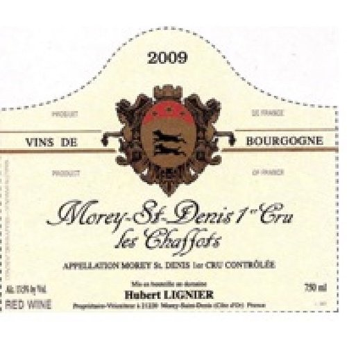 Wine HUBERT LIGNIER MOREY-SAINT-DENIS 'LES CHAFFOTS' 1ER CRU 2011