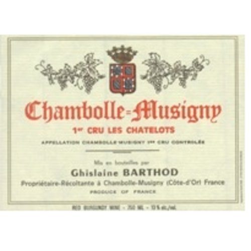 Wine GHISLAINE BARTHOD CHAMBOLLE-MUSIGNY 'LES CHATELOTS' 1ER CRU 2013