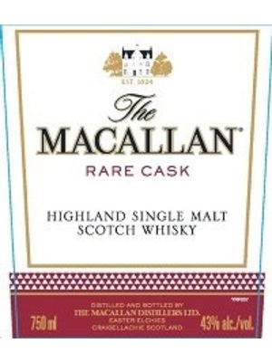 Spirits MACALLAN 'RARE CASK' SINGLE MALT SCOTCH