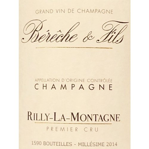Sparkling BERECHE BRUT 1ER CRU RILLY-LA-MONTAGNE CHAMPAGNE 2014