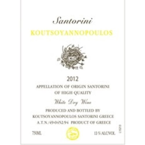 Wine KOUTSOYANNOPOULOS SANTORINI 2013