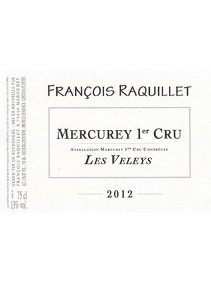 Wine DOMAINE FRANCOIS RAQUILLET MERCUREY BLANC LES VELEYS 1er CRU 2016