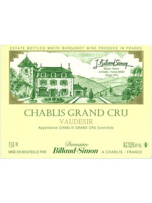Wine DOMAINE BILLAUD-SIMON CHABLIS GRAND CRU VAUDESIR 2016