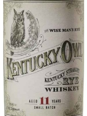 Spirits KENTUCKY OWL STRAIGHT SMALL BATCH RYE WHISKEY (BATCH 2)
