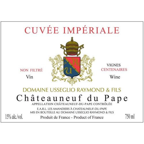 Wine DOMAINE USSEGLIO CUVEE IMPERIALE CHATEAUNEUF DU PAPE 2012