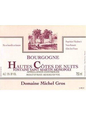 """Wine DOMAINE MICHEL GROS BOURGOGNE HAUTES COTES DE NUITS FONTAINE """"ST. MARTIN"""" MONOPOLE ROUGE 2016"""