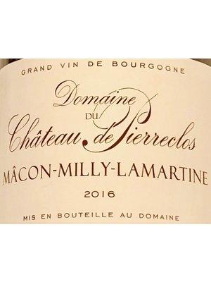Wine DOMAINE DE CHATEAU DE PIERRECLOS  MACON-MILLY-LAMARTINE BLANC 2016