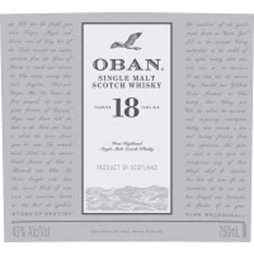 Spirits OBAN 18YR SCOTCH WHISKY