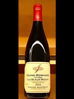"""Wine JEAN GRIVOT VOSNE-ROMANEE 1ER CRU """"LES BEAUX MONTS 2016"""