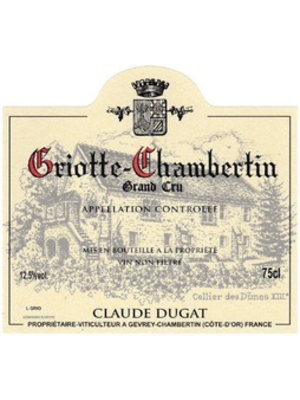 Wine CLAUDE DUGAT GRIOTTE-CHAMBERTIN GRAND CRU 2016