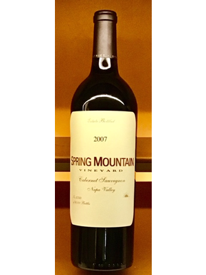 Wine SPRING MOUNTAIN VINEYARD ESTATE CABERNET SAUVIGNON 2007