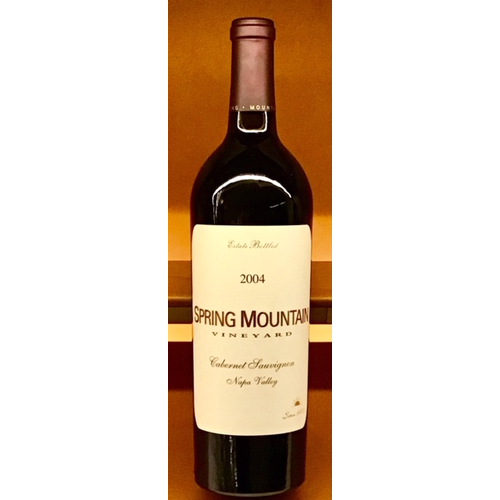 Wine SPRING MOUNTAIN VINEYARDS ESTATE CABERNET SAUVIGNON 2004