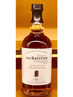 Spirits BALVENIE 'SWEET TOAST AMERICAN OAK' 12 YEAR OLD SINGLE MALT SCOTCH