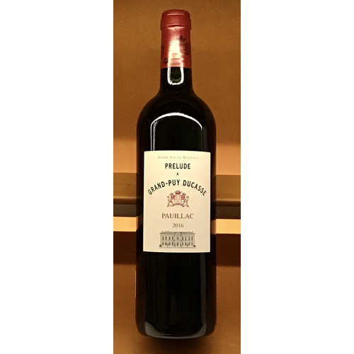 Wine CHATEAU PRELUDE A GRAND PUY DUCASSE 2016