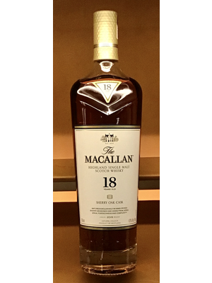 Spirits MACALLAN SHERRY OAK CASK 18 YEAR OLD SCOTCH
