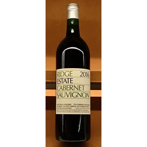Wine RIDGE ESTATE CABERNET SAUVIGNON 2016