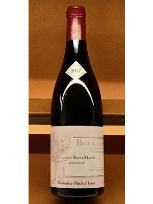 """Wine MICHEL GROS  HAUTES COTES DE NUITS FONTAINE """"ST. MARTIN"""" BOURGOGNE ROUGE 2017"""